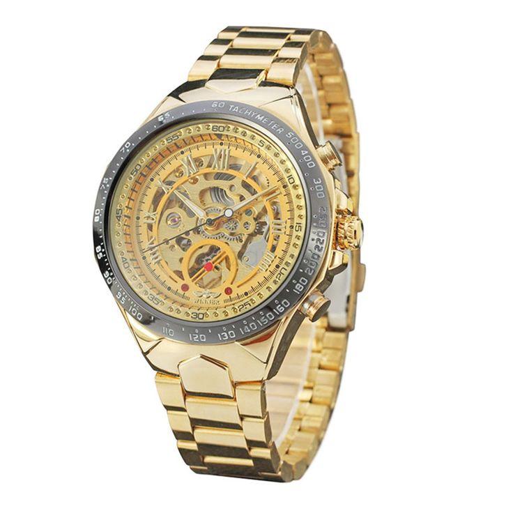 Winner SLZ46 Mens Manual Wind Mechanical Watch Roman Numerals