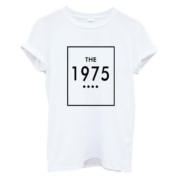New Women Tshirt THE 1975 Letters Print Cotton Casual Funny Shirt For Lady White Top Tee Hipster