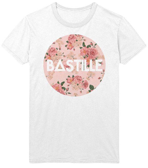 Bastille Floral Logo T-Shirt - Vintage Bokeh Hipster Indie Rock Music Shirt Tank Top Vest Sweatshirt - Mens / Womens on Etsy, $15.00