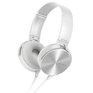 Casque Audio SONY MDRXB450A Extra Bass blanc - casque - écouteur, avis et prix pas cher - Soldes* d'hiver dès le 6 janvier Cdiscount