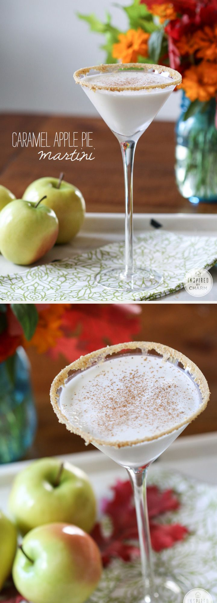 Caramel Apple Pie Martini - Fall Wedding Signature Drink - YUM!