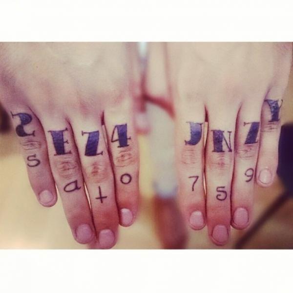 Ксения Afrowaffle - Татуировки на пальцах
