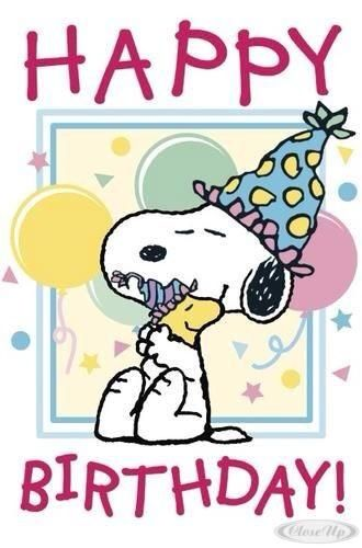 Snoopy birthday. Cute #cartoon wallpapers www.freecomputerdesktopwallpaper.com/humorwallpaper.shtml Thank you for viewing!