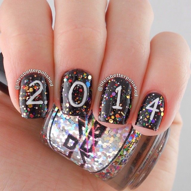 Best 25 new years nail art ideas on pinterest new years nail new year by lifeisbetterpolished nail nails nailart prinsesfo Image collections
