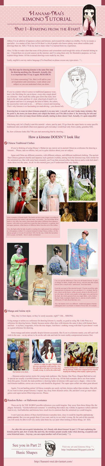 Kimono Tutorial - Part 01 by Hanami-Mai.deviantart.com on @DeviantArt