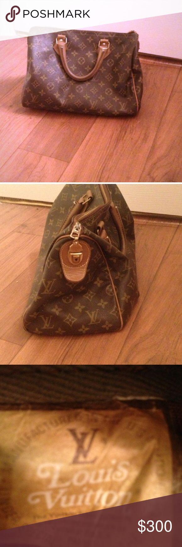 Louis Vuitton speedy bag vintage 1980s Louis Vuitton speedy bag vintage Louis Vuitton Bags Totes