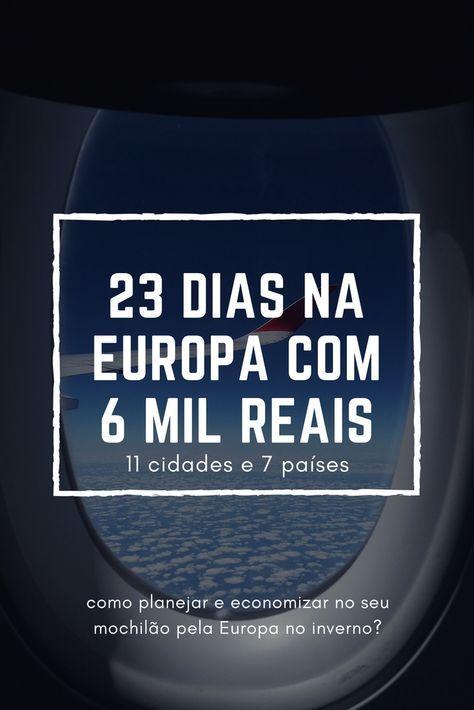 Quanto custa fazer um mochilão pela Europa?