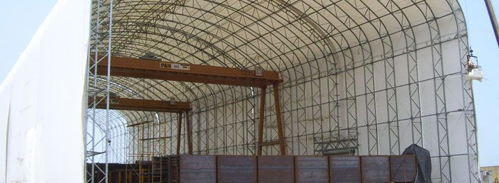 Portable Fabric Structures : Best images about fabric buildings and structures on