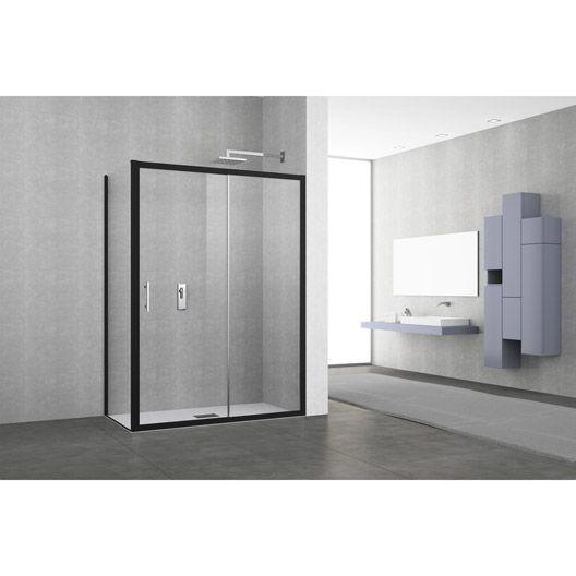 1000 id es sur le th me porte de douche coulissante sur - Porte coulissante verre noir ...