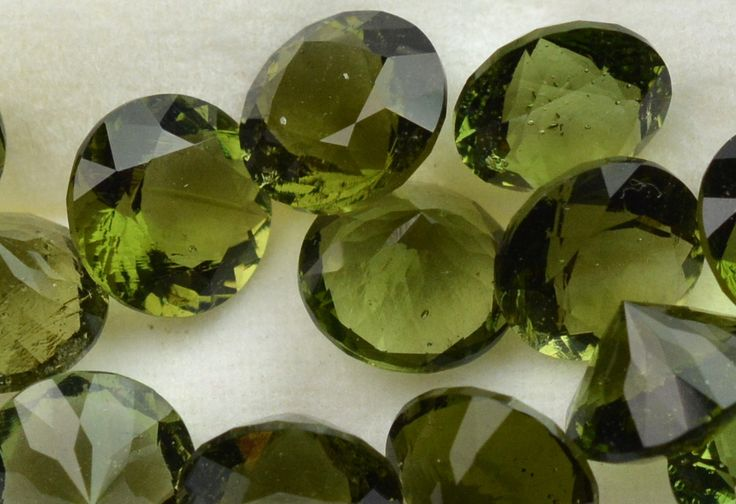 Moldavite Faceted Gemstones Round - WHOLESALE 10 pack from InnerVision Crystals