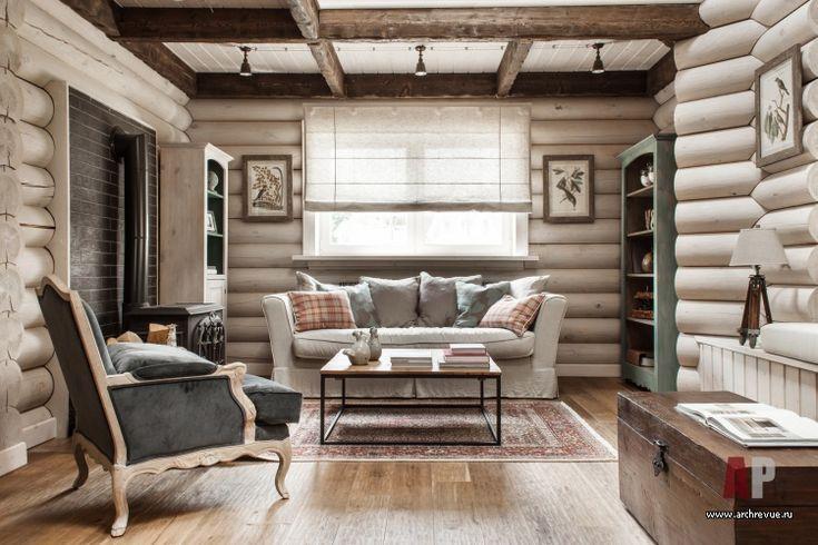 Фото интерьера гостиной небольшого дома в эко стиле