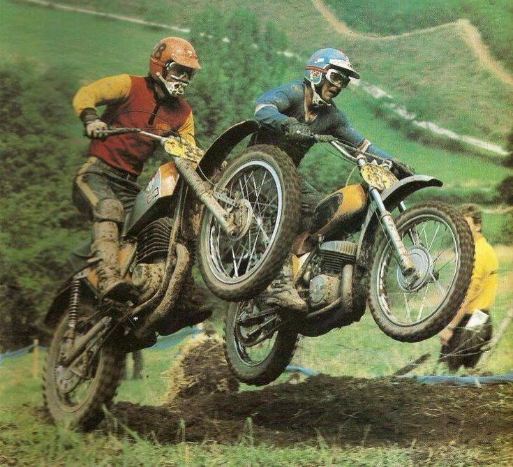 Vintage Motocross.....so awesome....big heavy clunky old pieces of shit bikes compared to the bikes of today.... But i love them!