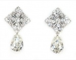 Handmade swarovski crystal earrings, rhodium plated for brides, wedding and formals. Redki Jewellery, Jewelry  www.redki.com.au