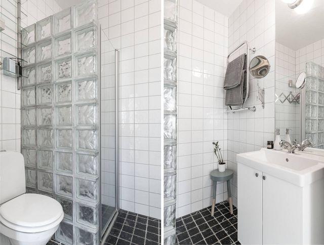 Tabique de cristales de pavés  para separar la ducha