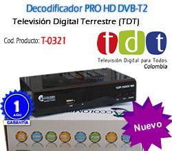 Decodificador TDT DVB-T2 Colombia T-0321 Accolombia
