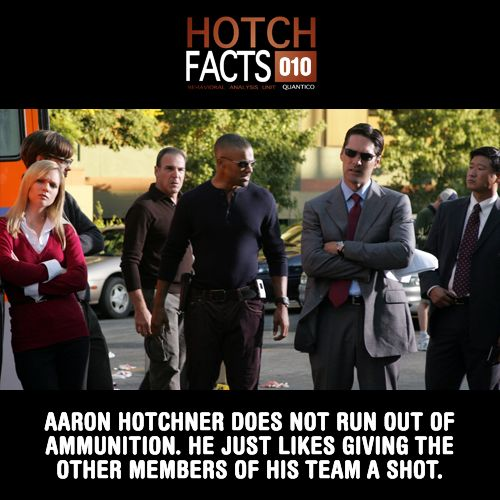 Gotta be fair! #HotchFacts #CriminalMinds