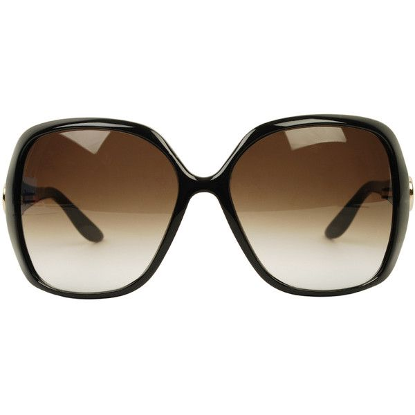 d6c5856674b GUCCI Web Side Large Frame Sunglasses (290 BGN) found on Polyvore ...