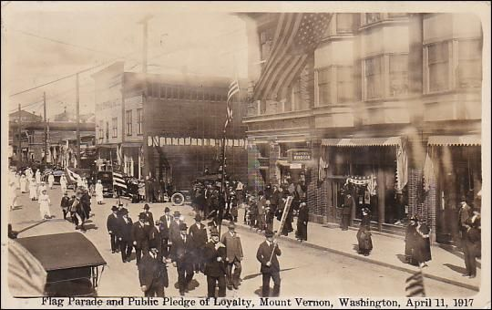 RP; Flag Parade and Public Pledge of Loyalty, Mount Vernon, Washington, April 11, 1917 Item# SCVIEW362723 (256213517)
