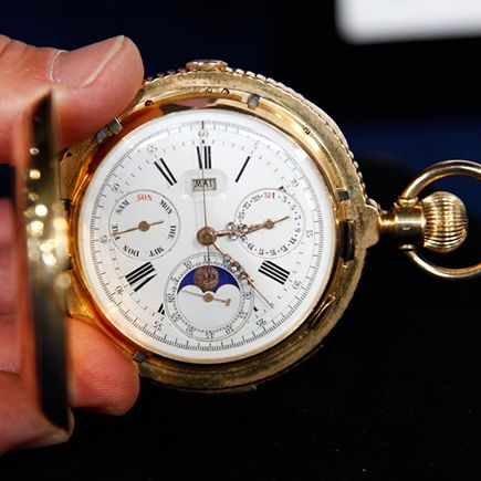 522db4f25 18K Gold Pocket Watch, ca. 1885 — Appraised Value: $25,000 - $30,000    Clocks, watches and Time   Watches, Gold pocket watch, Old pocket watches