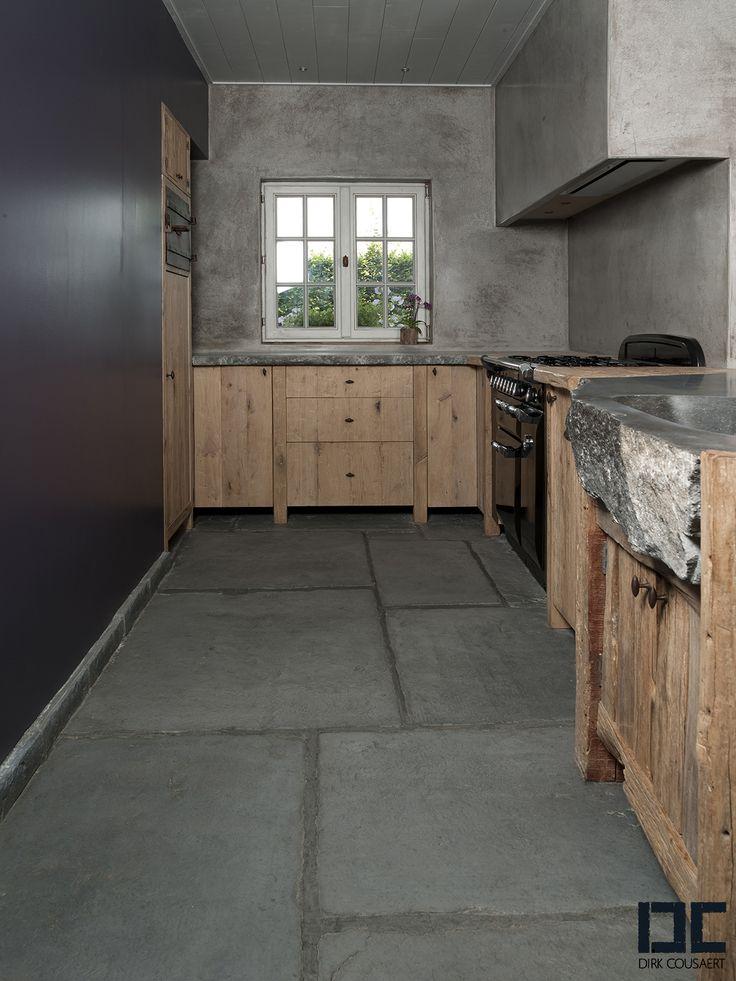 landelijke keuken industrieel uitgewerkt Dirk #Cousaert