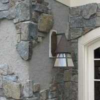 cobblestone and stucco homes | This technique allows for an old world look on a modern built home.