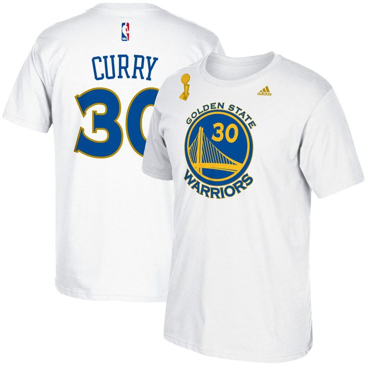 8975a6c16da ... Mens Golden State Warriors Stephen Curry adidas White Trophy Banner  Name Number .