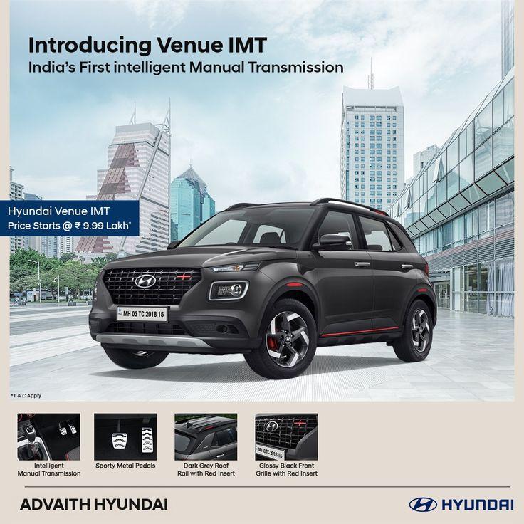 Introducing Hyundai VENUE IMT. India's First intelligent