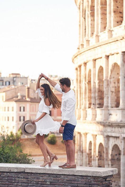 Flitterwochenliebhaber fotografieren in Rom #Honeymoon   – Honeymoon ideas