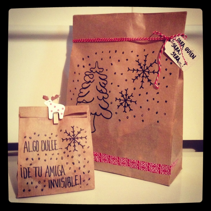Packaging para un regalo de Amigo Invisible. Low Cost a tope...