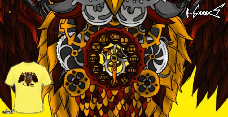 T-shirts - Design: Steam punk owl - by: DemiSaurus Rex