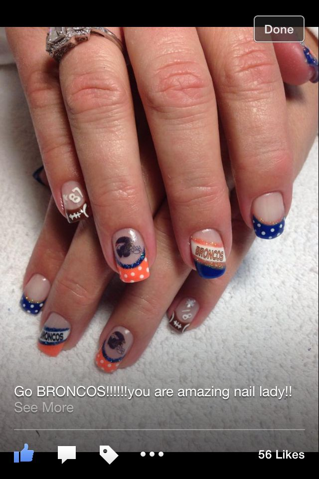 Broncos Gel nail designs Mountain Prairie Nails - The 37 Best Denver Broncos Nail Art Images On Pinterest Denver
