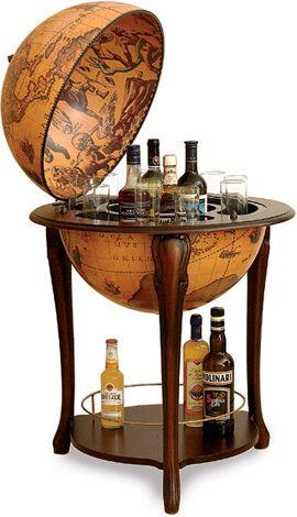 Old school liquor cabinet in a globe