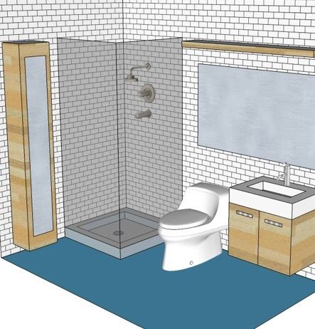 1000 Images About Bathroom 5x8 On Pinterest