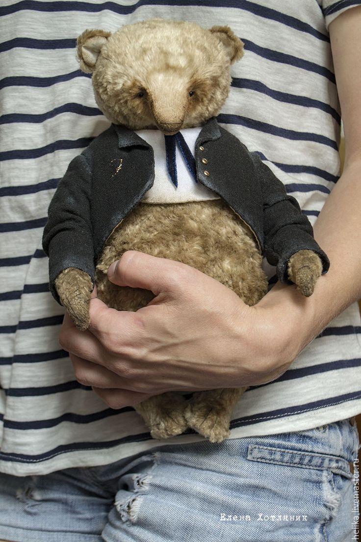 Купить Franklin - бежевый, мишки тедди, мишка, тедди, теддик, медвежонок, игрушка ручной работы
