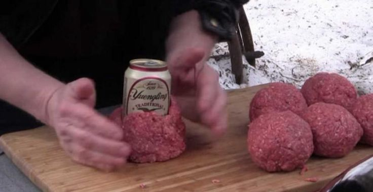 Ele envolve a cerveja com carne moída. A razão – É de morrer