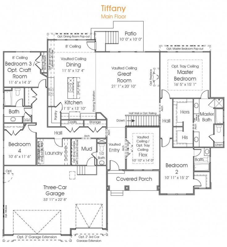 House plans in utah comely rambler house plans pepperdign for Rambler plans