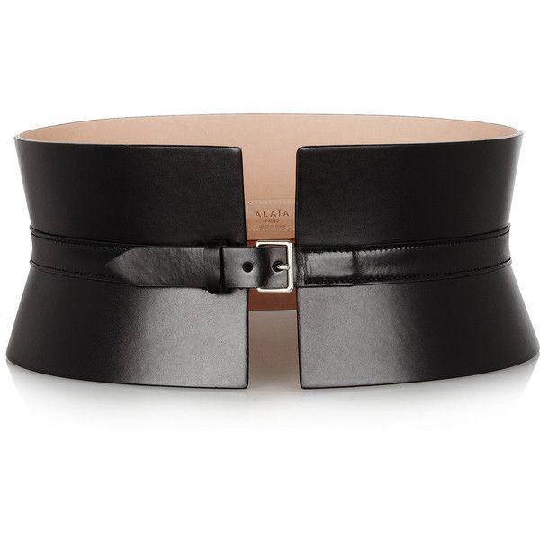 Alaïa Wide leather waist belt ($1,312) ❤ liked on Polyvore