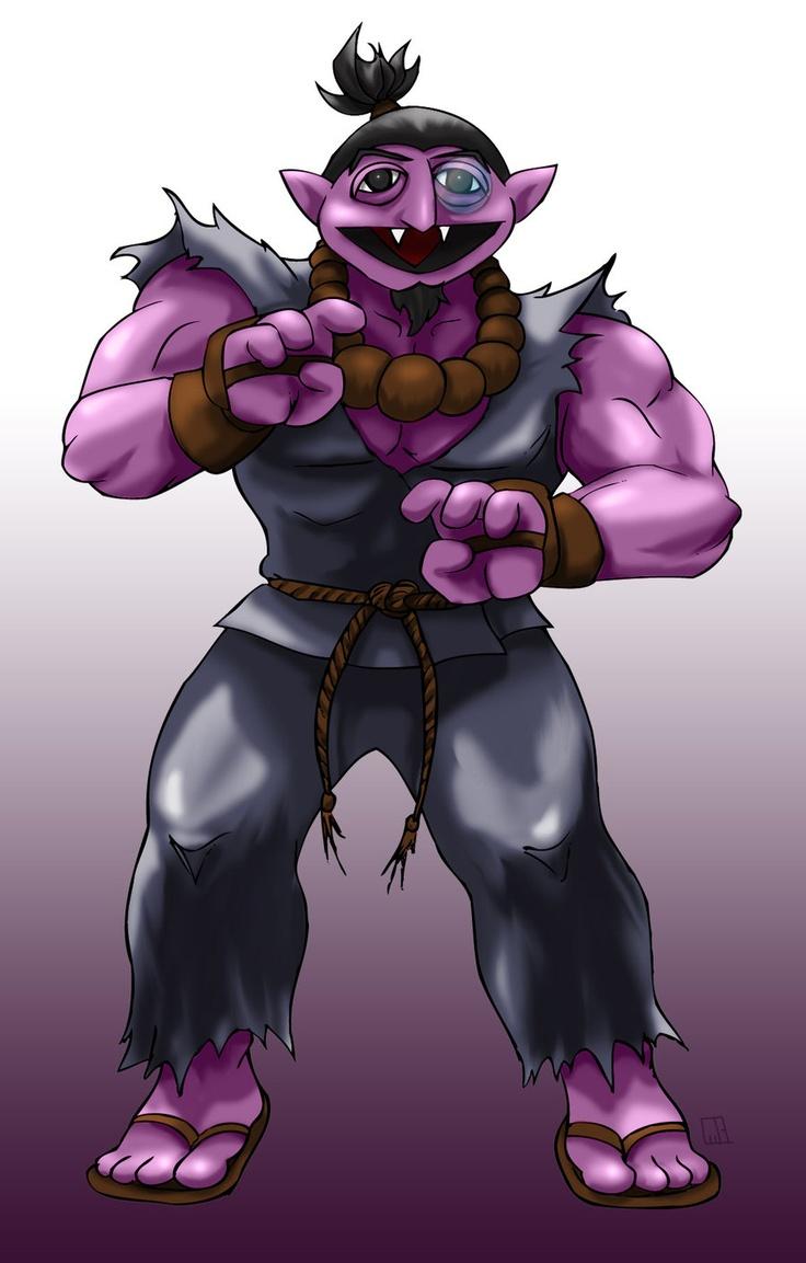 Sesame Street Fighter Acountma by gavacho13.deviantart.com