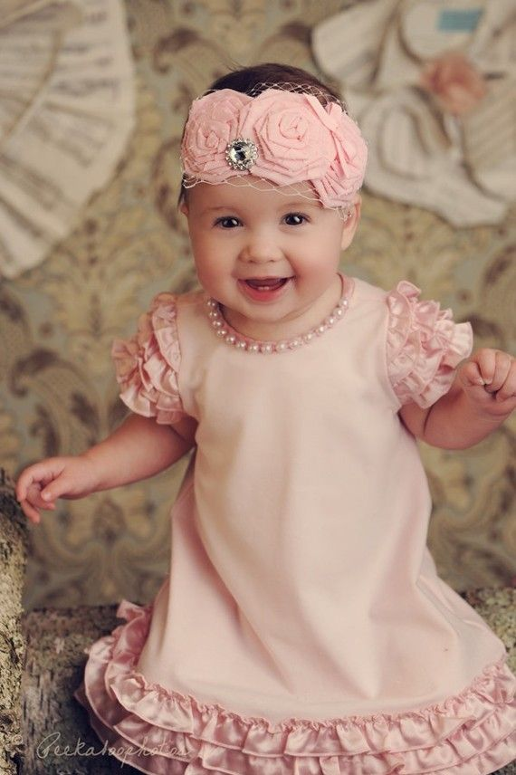 precious in pink!: Little Girls, The Duchess, Baby Headbands, For Kids, Flower Headbands, Kids Fashion, Baby Girls, Baby Boy, Baby Fashion
