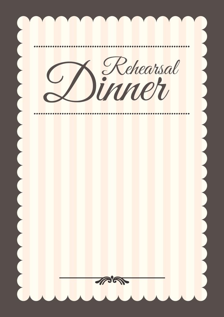 9 best rehearsal dinner lite breakfast images on Pinterest - free dinner invitation templates printable