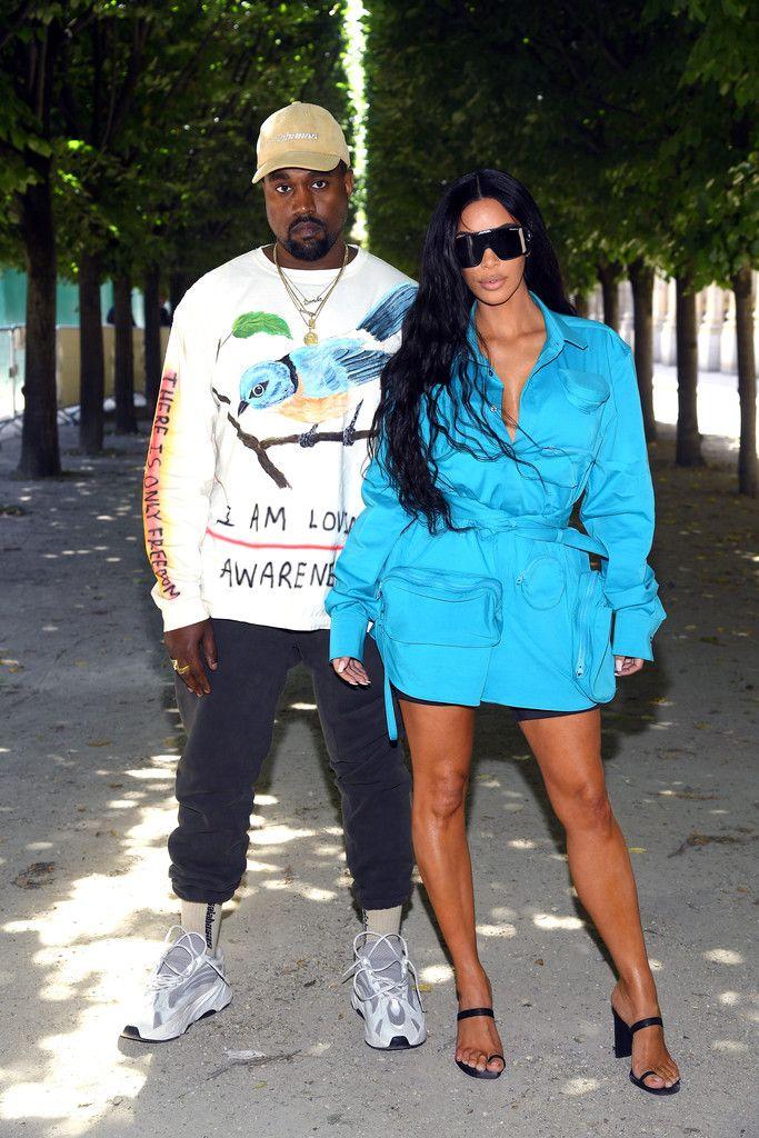 Street Style: Kimye - Stylish Starlets | Kanye west and kim, Kim kardashian  and kanye, Kim kardashian style
