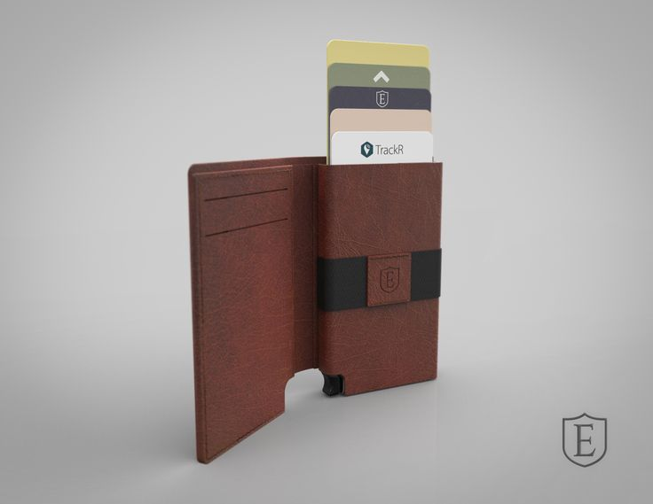 The Parliament - A ultra-slim trackable wallet that provides instant card access at the click of a button. #Ekster Coffee Brown