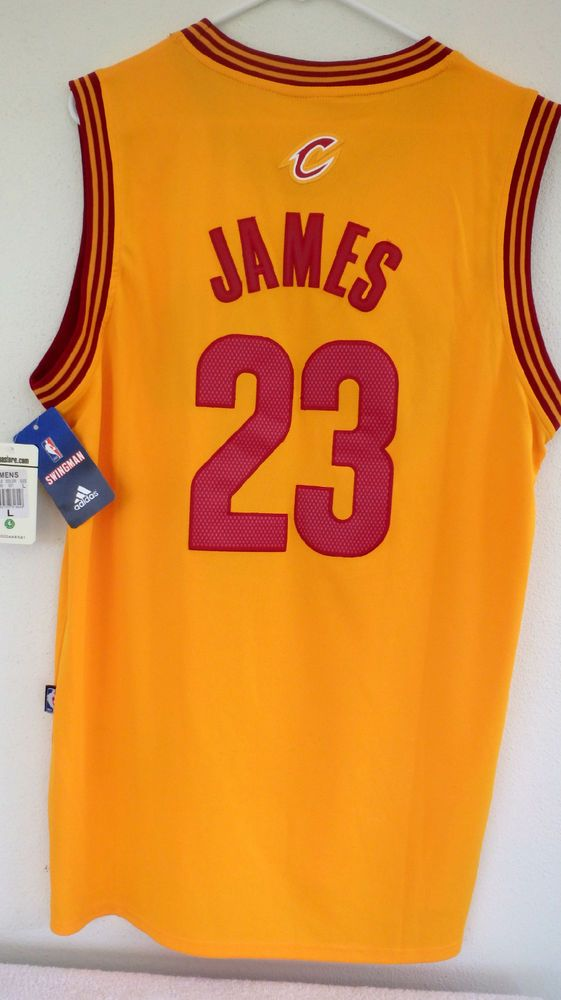 Adidas Cavs Authentic LeBron James Men's NBA Cleveland Cavaliers Classic Sz L #adidas #ClevelandCavaliers