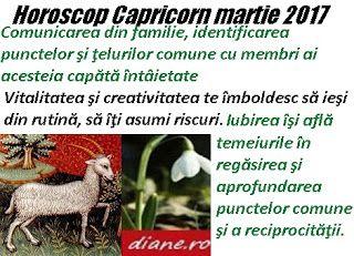 Horoscopul Capricornului martie 2017 are drept orientări principale pofta de a te bucura din plin de...
