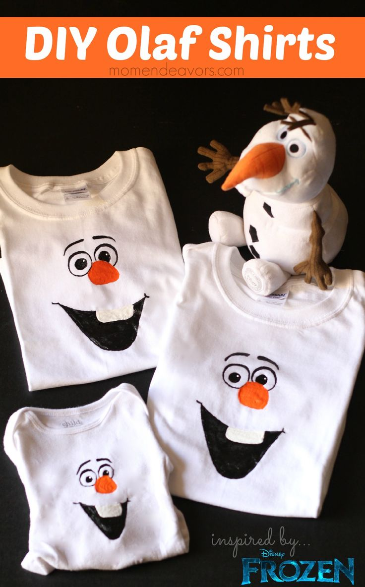 DIY+Olaf+Shirts+-+with+FREE+template+via+momendeavors.com+#disney+#FROZEN