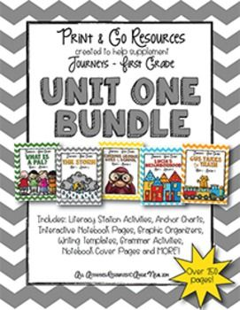 HUGE bundle of Print and Go resources to use with Journeys! Includes 5 stories!