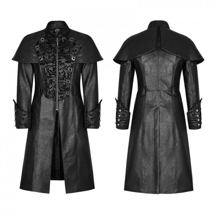 Gothic langer Mantel für Männer