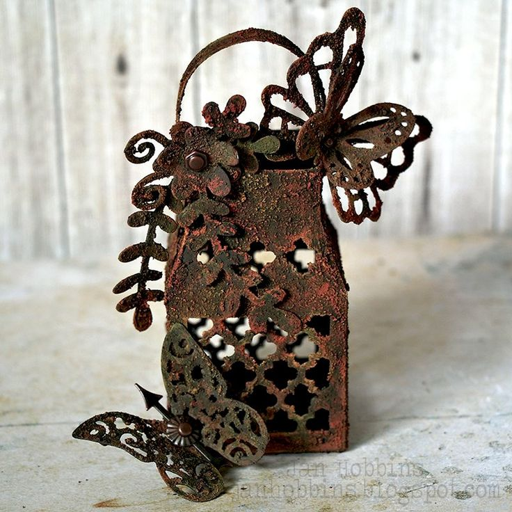 Create Texture With This Butterfly Lantern DIY by Jan Hobbins for Sizzix