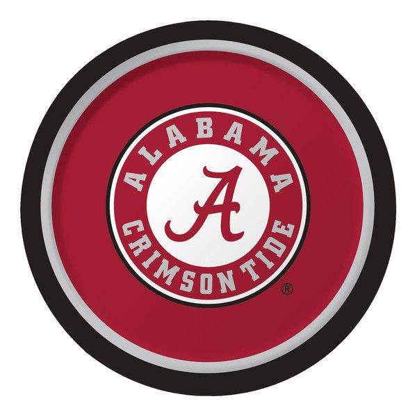 Univ of Alabama 9 Inch Dinner Plates/Case of 96  sc 1 st  Pinterest & 10 best University of Alabama Party Tableware images on Pinterest ...