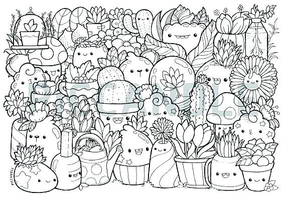Doodle Coloring Pages Printable Doodle Coloring Pages Plants Page